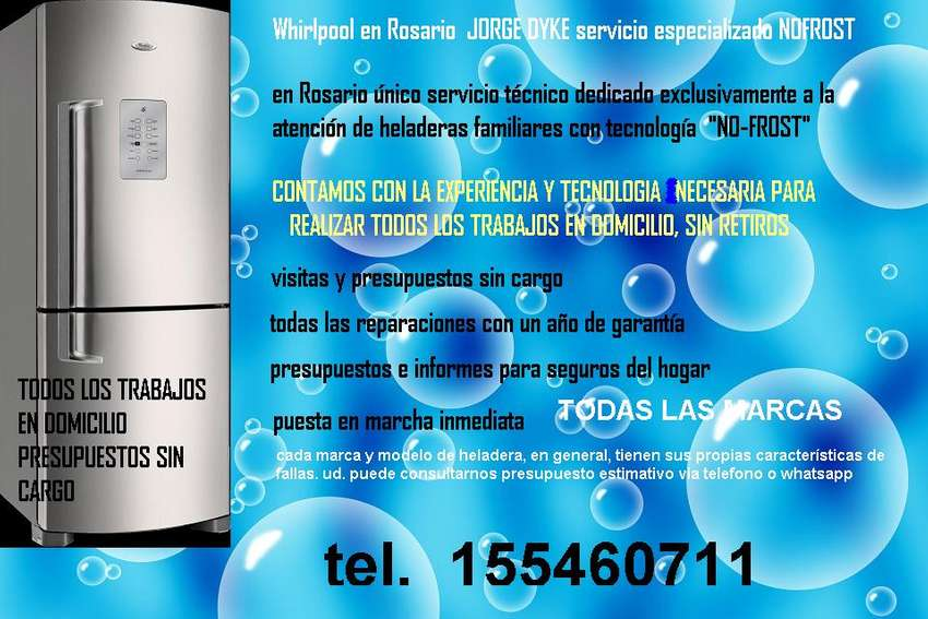 whirlpool Rosario t.153518018 service heladeras NOFROST 0