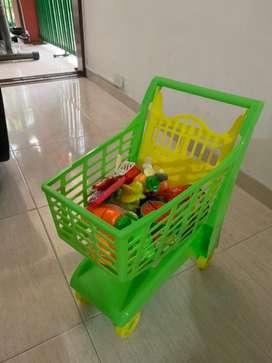 Carrito de mercado para niños