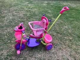 Triciclo Minnie con manija direccional.