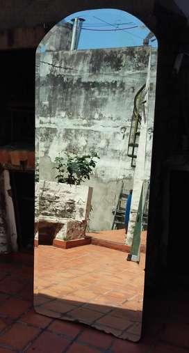 Espejo Antiguo Biselado. Espesor 7mm. De Pared. Con Bastidor
