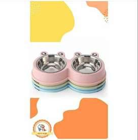 Platos de comida/agua para perros con forma de ojitos