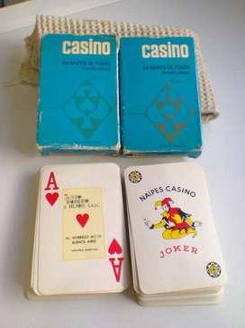 Cartas de Poker! Excelentes! 2 mazos!Retro! Casino