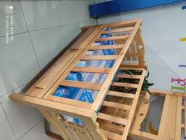 Cuna 70 cm X 130 madera natural