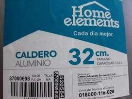 Caldero aluminio 32 cm capacidad 13,6 L