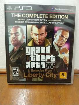 Grand theft auto IV the complete edition play station 3