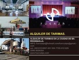 ALQUILER DE TARIMAS PARA EVENTOS.