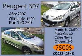 Peugeot 307, 1.6 2007 A 7500$ Quito