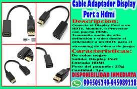 Cable Adaptador Display Port Dp A Hdm