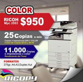 Copiadora Impresora Ricoh Mp C2503 Full Color