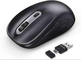 Mouse Inalámbrico Jelly Comb Usb Tipo C 3 opciones de DPI