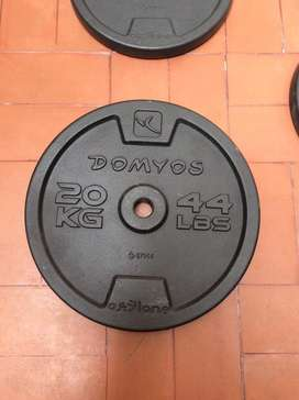 Discos de peso de 20 Kilos Domyos Nuevos  (precio por unidad)