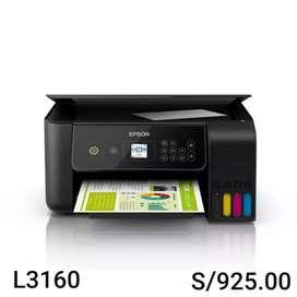 Impresora multifuncional de tinta continua Epson L3160