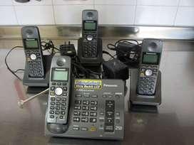 Vendo Teléfono Inalambrico Panasonic C/3 Bases.