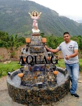 AQUA'G fuentes de agua y cascadas en piedra