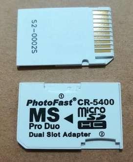 Adaptador Photofast original para psp y camaras filmadoras