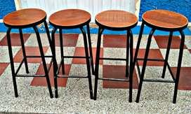 Set x 4 sillas para negocio