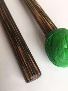 Baquetas (tacos) para Marimba de chonta y percusión.