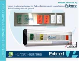 Panel de cabecera para tomas de oxigeno