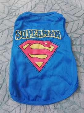 Camiseta perro superman