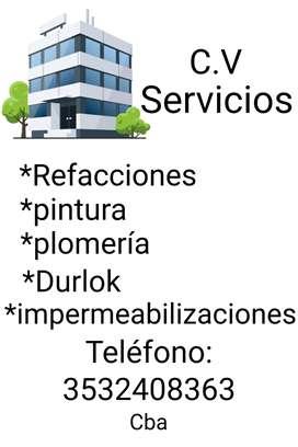 Se realizan refacciones y servicios de mantenimiento edilicios