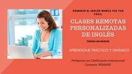 Clases Remotas Personalizadas de Inglés