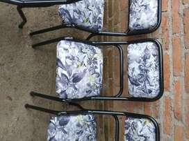 Vendo sillas de caño impecables