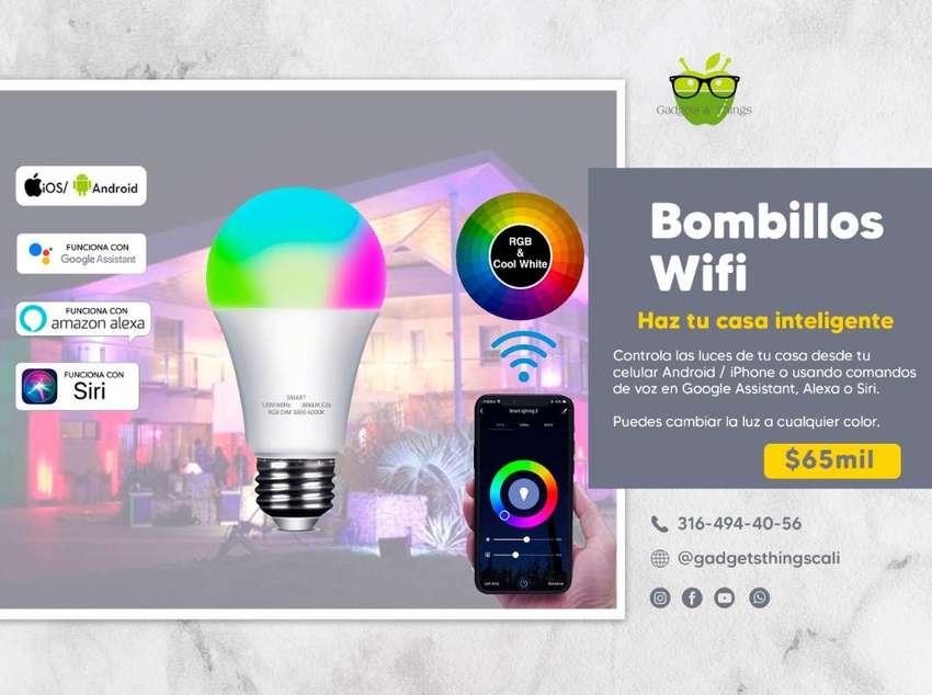 bombillo inteligente alexa, google home cambia e colores Wifi