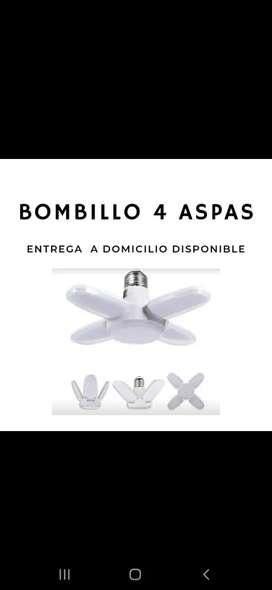 Bombillo 4 Aspas