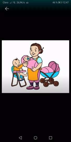 Busco trabajo como niñera con experiencia