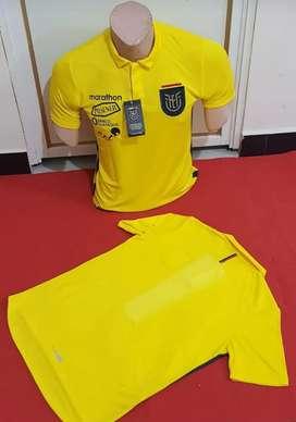 Camiseta amarilla y azul alterna de la selección