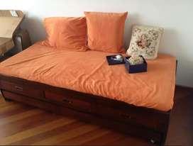 Juego de cubrelecho y forros cojines cama 90 cm x 1.90 mt x 20 cm altura Funda para cojín III: Medidas: 78 cm x 48.5 cm.