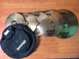 Sabian B8 Pro set platillos hi-hat, crash, ride