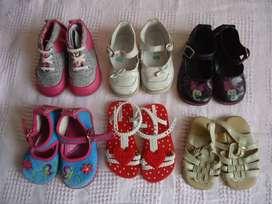 lote de zapatos niña -18 a 23