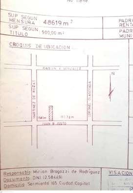 Vendo terreno en Quinta sección; Capital de Mendoza