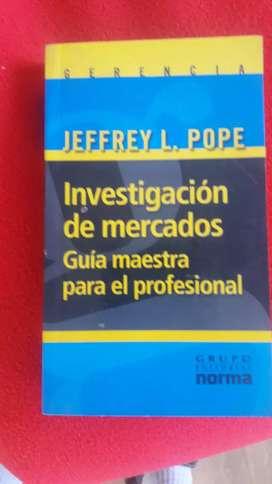 LIBRO  INVESTIGACION DE MERCADOS DE JEFFREY L POPE