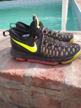 Nike kd 9 negra y rosa