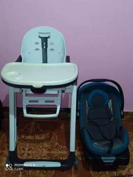 Silla de bebé y porta bebe