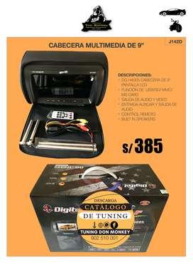 """CABECERA MULTIMEDIA DE 9"""""""