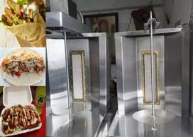 Máquina de shawarma gira sola
