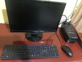 Monitor,estabilizador,mouse y teclado