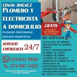 Servicios a domicilios Plomería Electricidad