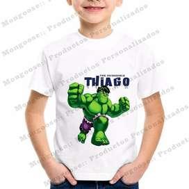 Camisetas Personalizadas Niño Hulk