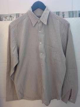 Camisa manga larga talle 38 beige perfecto estado