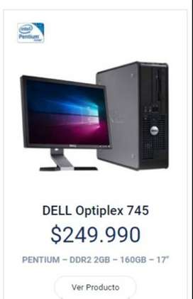 Pc.dell monitor y disco duro