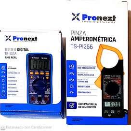 Tester Profesional digital!+pinza amperometrica digital