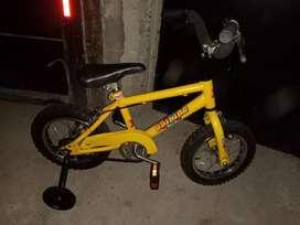 Bicicleta unisex rodado 12