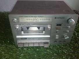 Vintage Hitachi Cassette Tape Deck