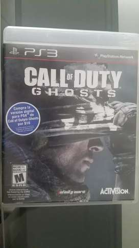 Juego físico PS 3 CALL of DUTY  GHOSTS