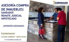 ASESORÍA EN COMPRA DE INMUEBLES, SANEADOS, REMATE JUDICIAL Y MAS   INMOBILIARIA CORONADO TRUJILLO