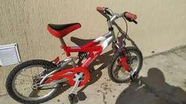 Bicicleta musetta Rod 16 doble suspensión